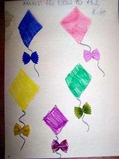 K: Kite Bowtie color matching (could also do a number variation)