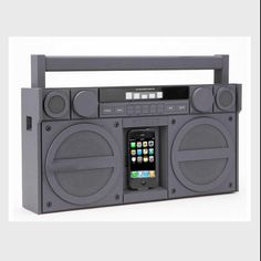 The boombox is back. Now updated for your iPhone and just in time for the imminent breakdance revival. Be ready, homeboy. Source