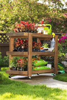Whether you're transporting pots from the garage to the garden or books between classrooms, the DIY rolling storage cart has you covered. Click through for the tutorial.