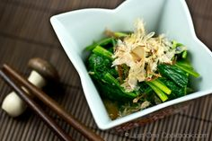 Spinach Ohitashi (Japanese Spinach Salad with Bonito Flakes) | Easy Japanese Recipes at JustOneCookbook.com