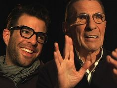 (Language warning.) 7 Things: Spock on Spock. Very cool conversation with Leonard Nimoy and Zachary Quinto. #startrek