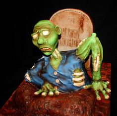Zombie Birthday Cake  #Zombie #Zombies