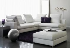 Sofas and sectionals on pinterest leather sectional for Sofa sectionnel maison corbeil