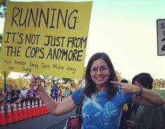 funni sign, race sign, fit inspir, cops, running humor, funni race, marathon sign, quot, spectat sign