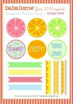 Lemonade Stand printables -free
