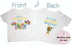 Henry HuggleMonster Front Back Personalized Birthday by Sweetteez1, $16.50