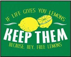 Hey, free lemons!