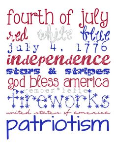 Subway Art  8x10  11x14  16x20  Fourth of July by gemberlelie, $5.00