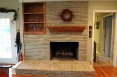 The Solution to the Dated Brick Fireplace That Even Your Husband Will Approve Of