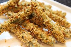 Baked Fried Green Beans