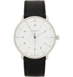 75% OFF on Private Jets Flights | www.flightpooling.com Max Bill by Junghans�Stainless Steel and Leather Automatic Watch #Watch