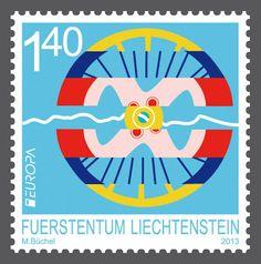 "europa stamps: Liechtenstein 2013 - Europa 2013 ""The postman van""  celebrating PostEurop's 20th anniversary - 1993-2013"