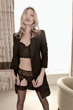 Kate Moss #lingerie #suiting #fashion