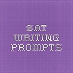 sat writing prompts
