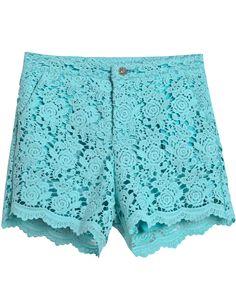 Turquoise LaceShorts