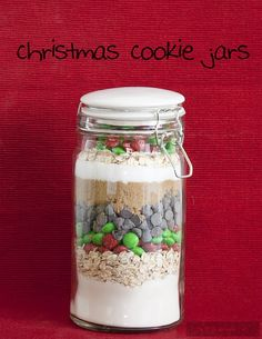 christmas cookie mix jars