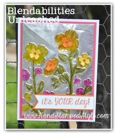 Learn all kinds of cool techniques and possibilities for your Blendabilities markers with Erin from http://www.handstampedstyle.com -Each month are different techniques and projects!
