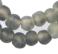 grey color recycled beads