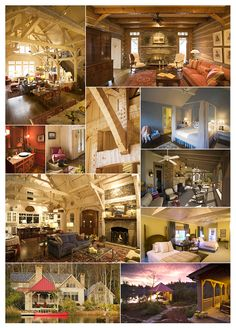 beautiful log home interior...my dream home