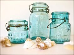 Old Mason Jars, Sea Blue, Art Print, Turquoise, Shabby, Farmhouse, Rustic, Kitchen Decor, Cottage Chic, Wall Decor Blue Mason Jars, Masons, Vintage Jars, Cottage Chic, Rustic Kitchens, Art Prints, Turquoise Kitchen Decor, Blue Art, Sea Blue