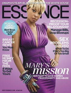 mary j blige essence magazine for their october ...