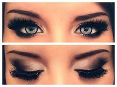 #night #out #make #up #black #white #smoky #eyes