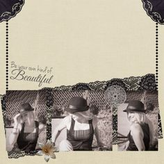 Be your own kind of Beautiful, This digital scrapbooking page was created using Bootiful by Elif at Pixel Scrapper