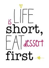 Make the most of your time.. and never skip on seconds.. :)  facebook.com/ChestnutStreetKitchens