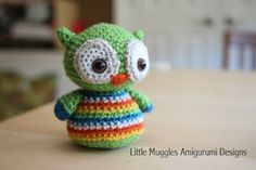 uil haakpatroontje - owl crochetpattern - Bees and Appletrees (BLOG)