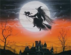 <3 Witch on her broom