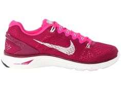 Nike Lunarglide+ 5 Raspberry Red/Pink Foil/Summit White - Zappos.com
