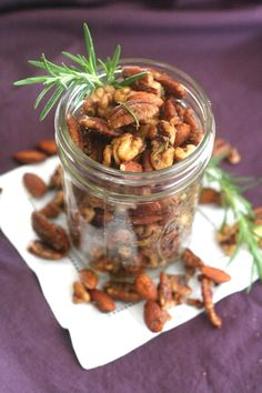 Maple Rosemary Cocktail Nuts