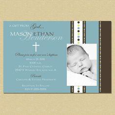 Girl or Boy Baptism Invitation/Birth by InspiredDesigns22 on Etsy, $10.00
