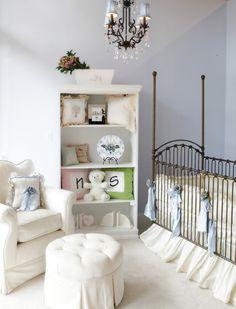 Chic baby nursery.