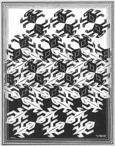 Regular Division of The Plane V - M.C. Escher