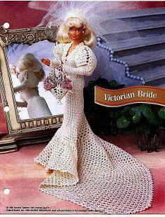 Crochet, Barbie, Victorian Bride pattern http://knits4kids.com/collection-en/library/album-view?aid=28427