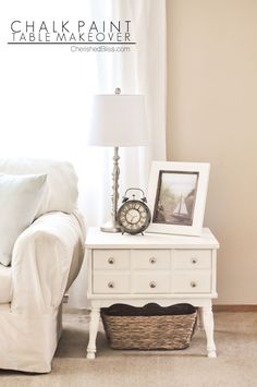 A Simple and Easy DIY Chalk Paint Side Table Makeover