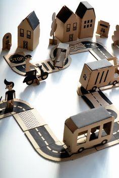 DIY cardboard play city