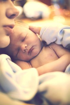 newborn baby with Mom
