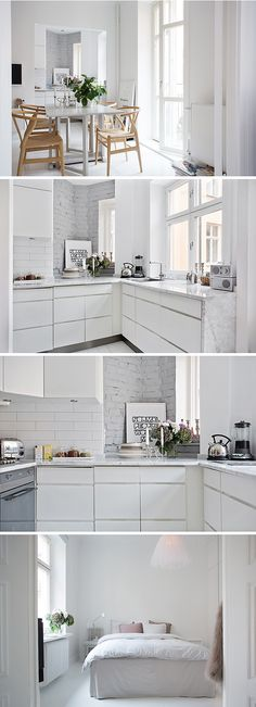 i don't think i could ever really do it, but oh how much i do love all white rooms