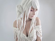 Caucasian dreads | White dreads, lace Girl, gorgeous.. love this