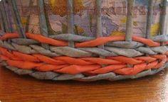 Cesta de tubos pintados con colorante alimentario