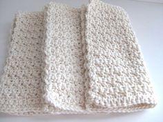 cotton crochet dishcloths