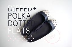 Dipped and polka dotted flats