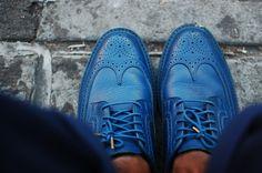 blue brogues.