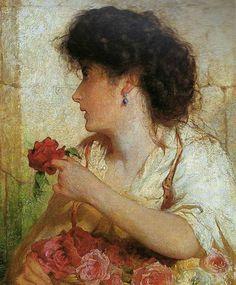 A Summer Rose, George Elgar Hicks. English (1824-1914)