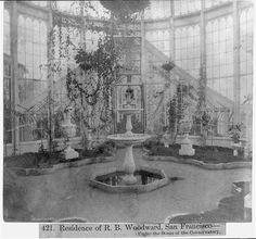 """Residence of R.B. Woodward, San Francisco, """"Under the Dome of the Conservatory"""""""