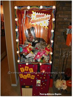 Cool Homemade Costume Idea: Claw Machine... Coolest Halloween Costume Contest