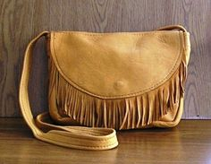 Leather purse medium Honey deerskin with by EnchantedLeather