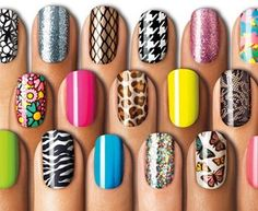 Sally Henson Nail Effects....really want to try this!